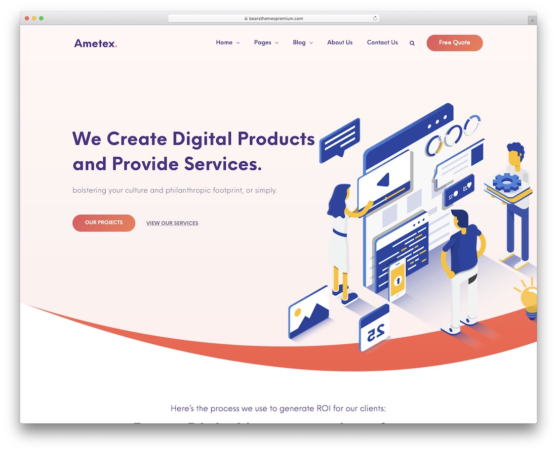 ametex digital agency wordpress theme