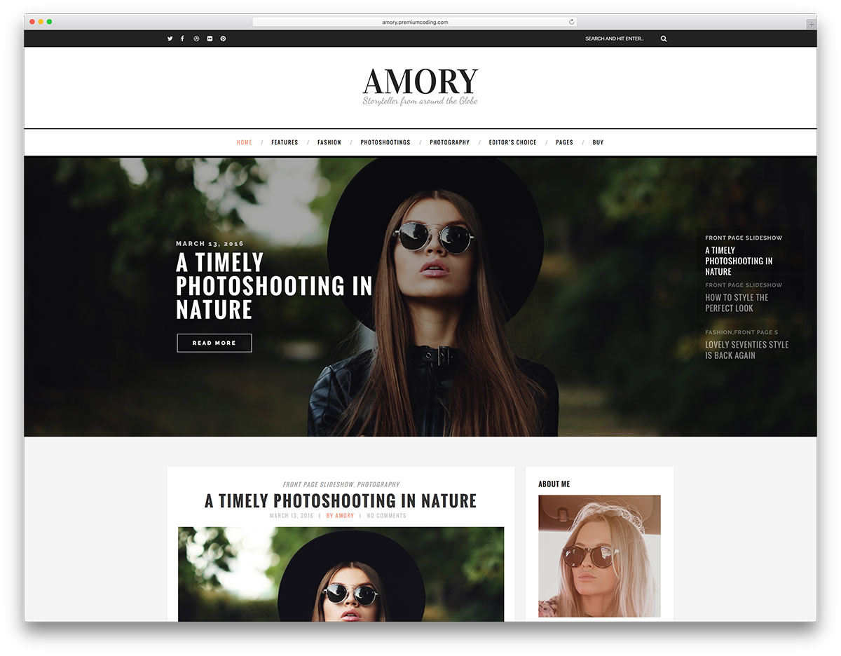 40 best personal blog wordpress themes 2018 colorlib for Homepage shop