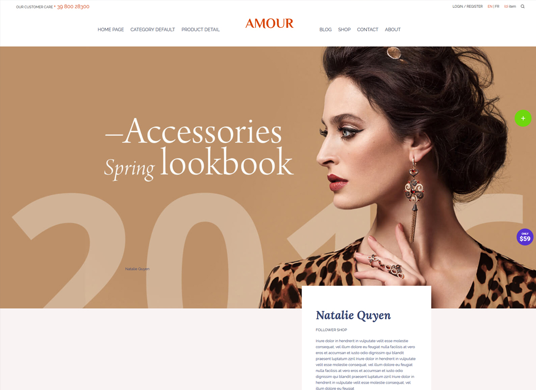 Amour | Flower - Jewelry - Handmade - Gift Shop WordPress Theme