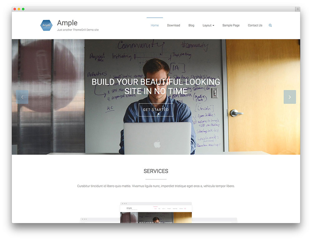 ample - fullscreen business theme