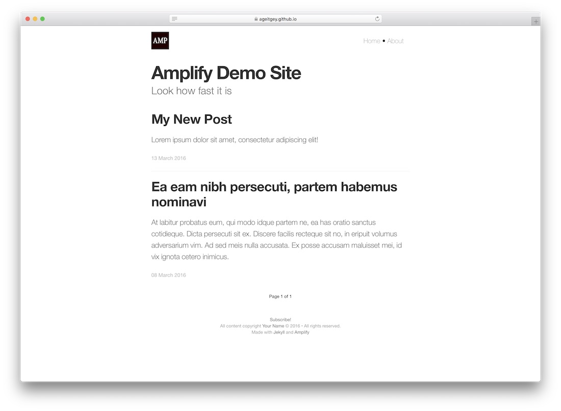 amplify amp theme