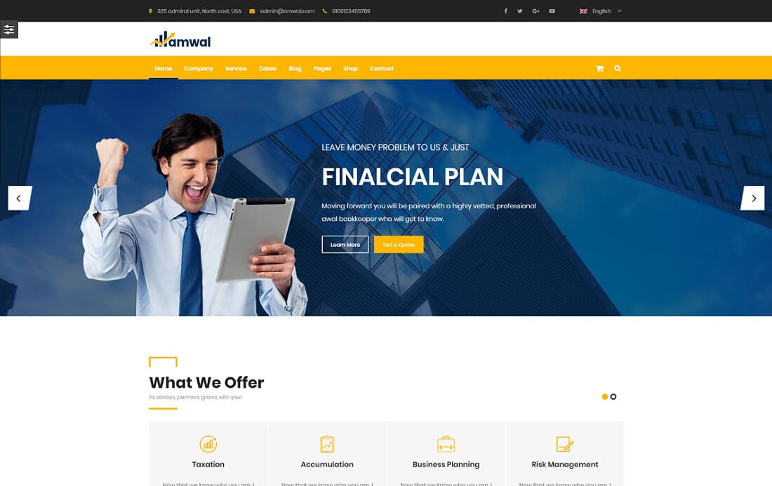 amwal cryptocurrency wordpress theme