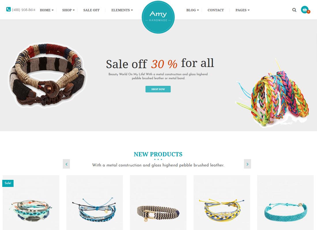 Amy Handmade   Blog and Shop WordPress Theme