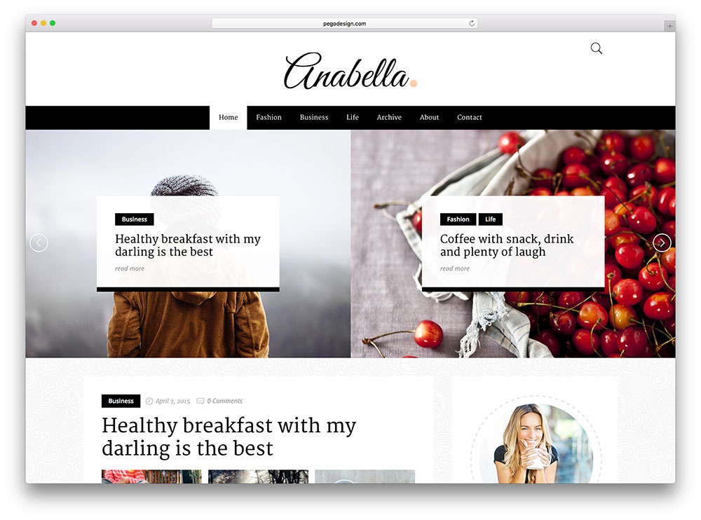 anabella image centric business blog theme