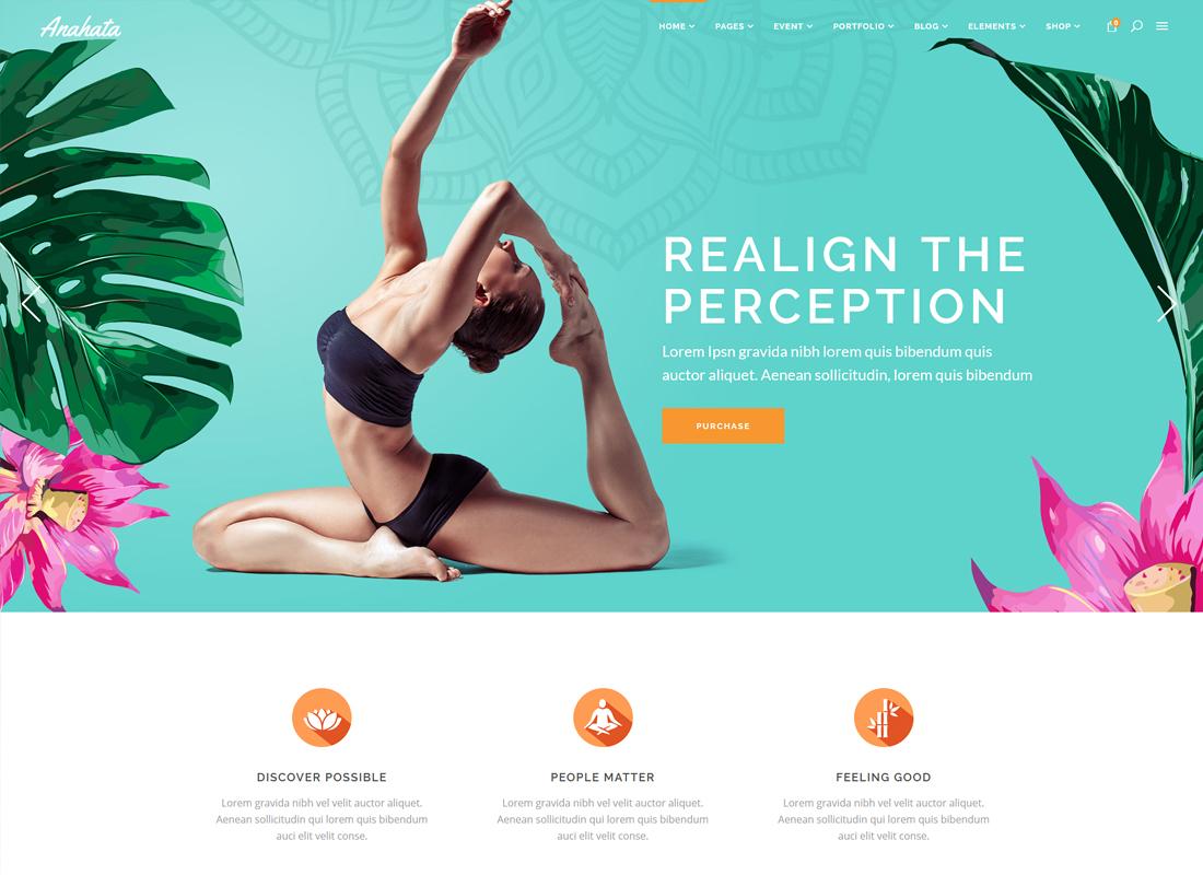 Anahata | Yoga, Fitness and Lifestyle WordPress Theme