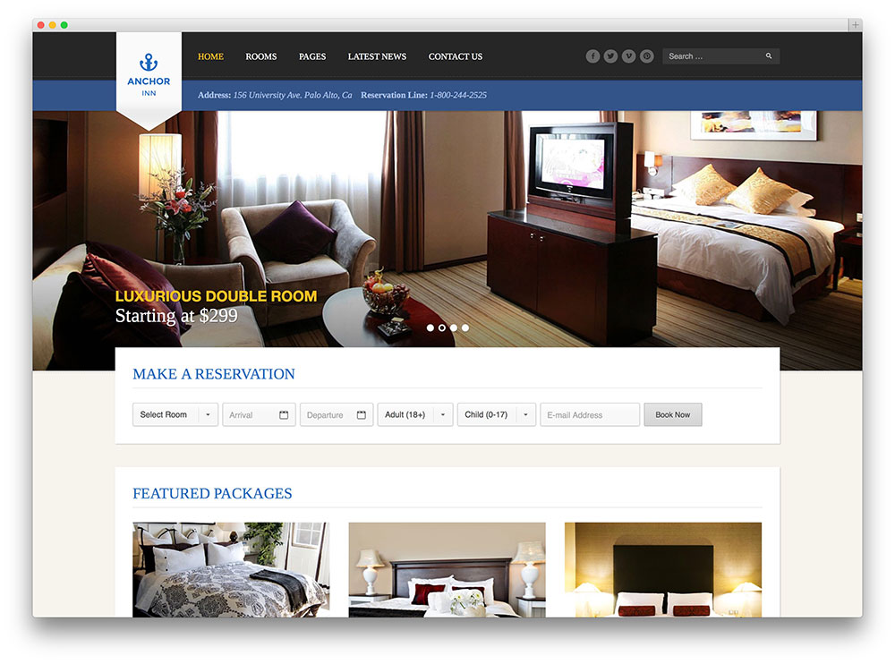 Download Free Hotel Website Template Freakify Com: 30+ Best Hotel, Apartment & Vacation Home Booking