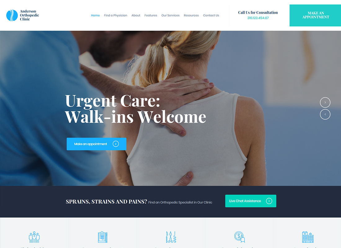 Anderson | Orthopedic Clinic & Medical Center WordPress Theme