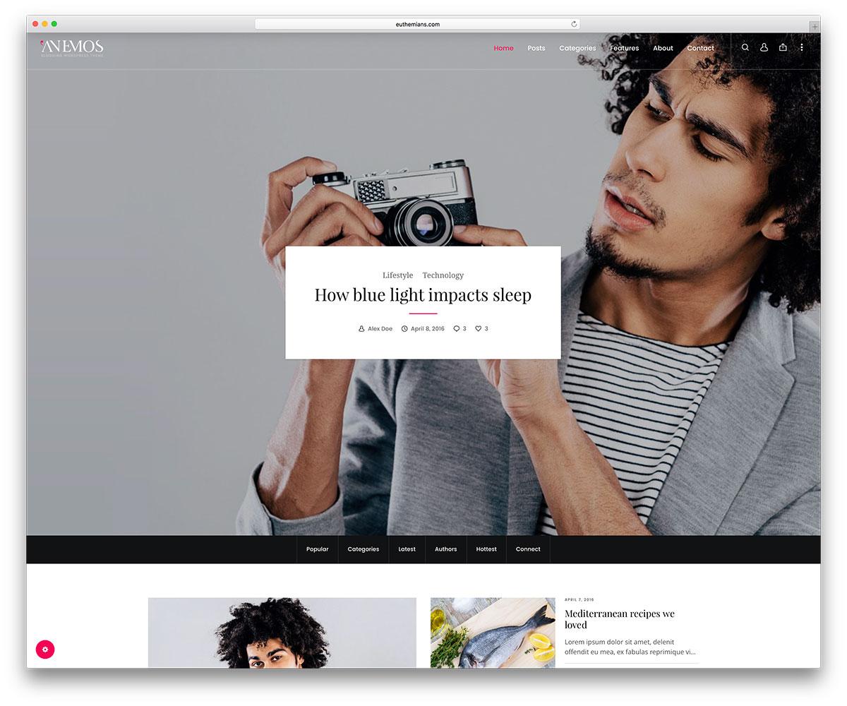 anemos-creative-wordpress-blog-template