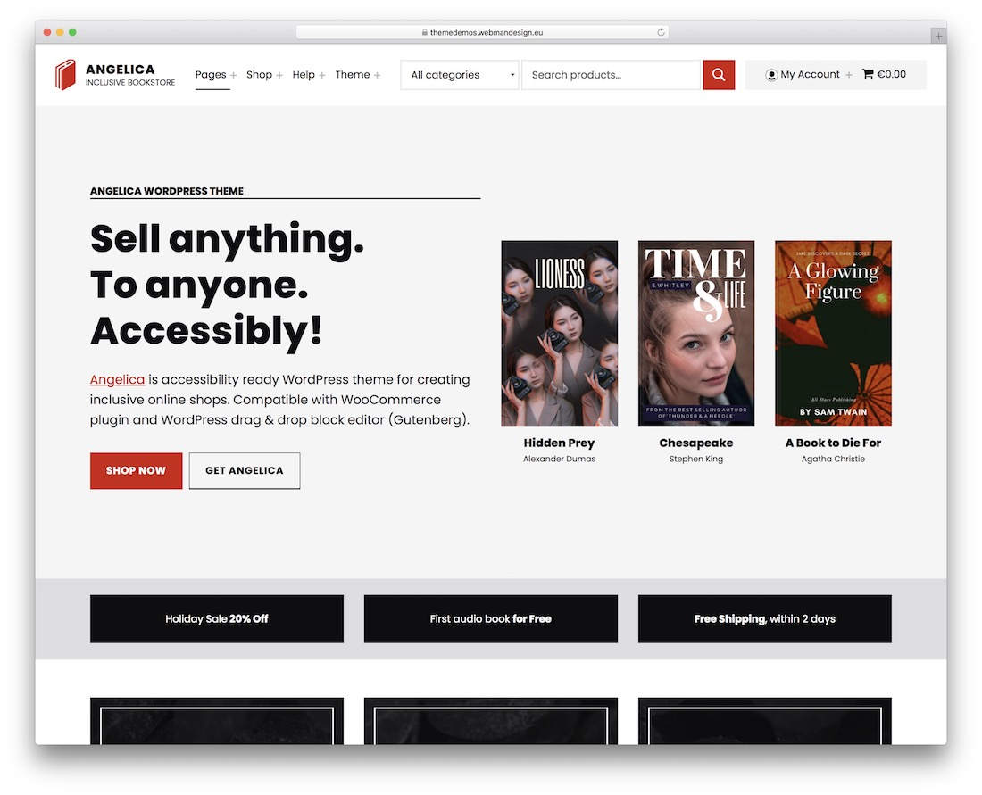 angelica accessible wordpress theme