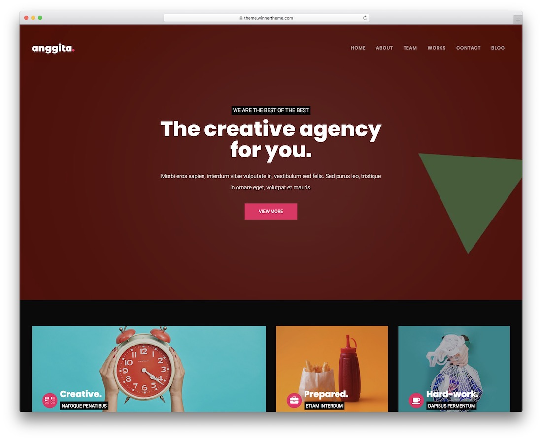 anggita art wordpress theme