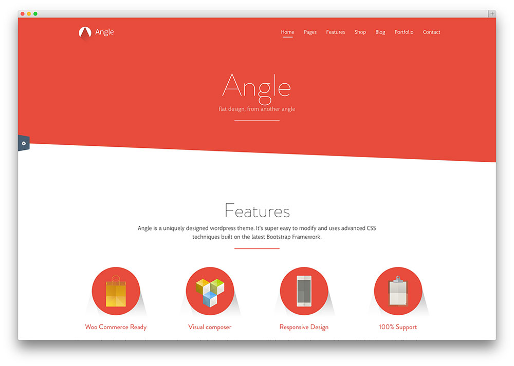 angle - long shadow business theme