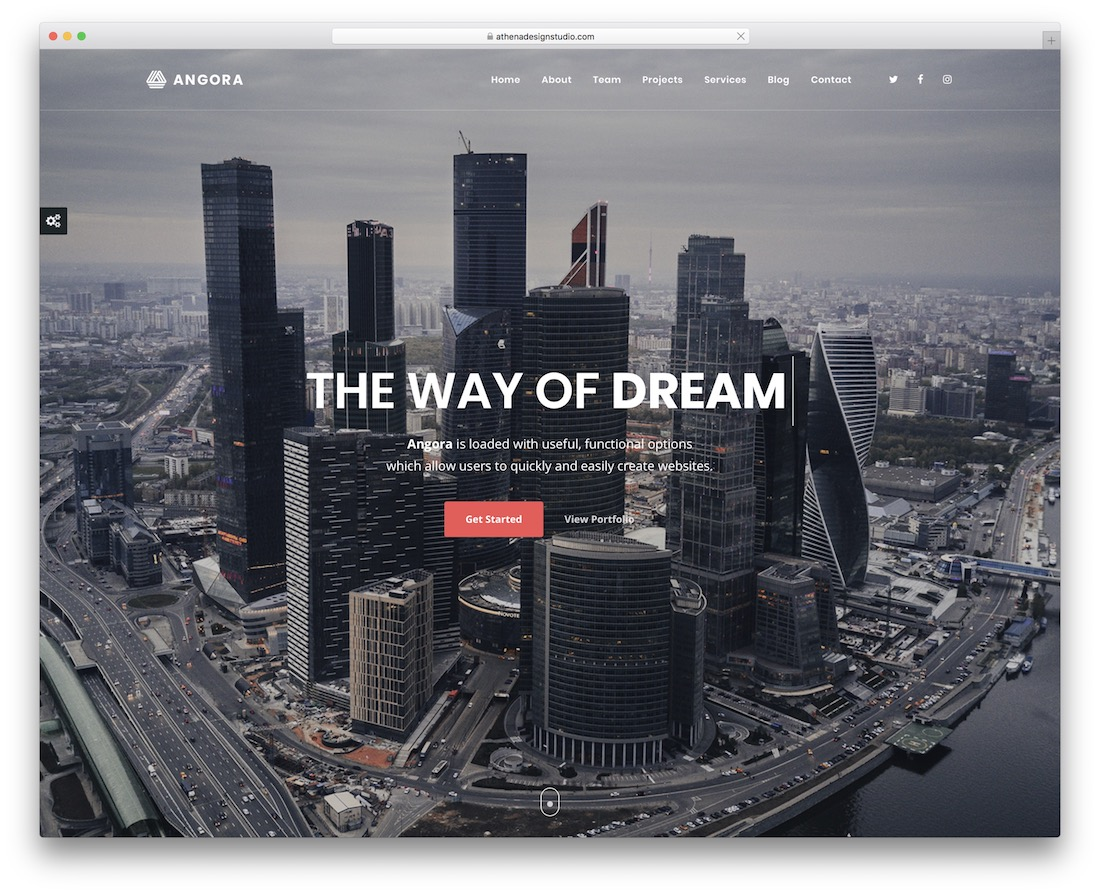 angora parallax website template