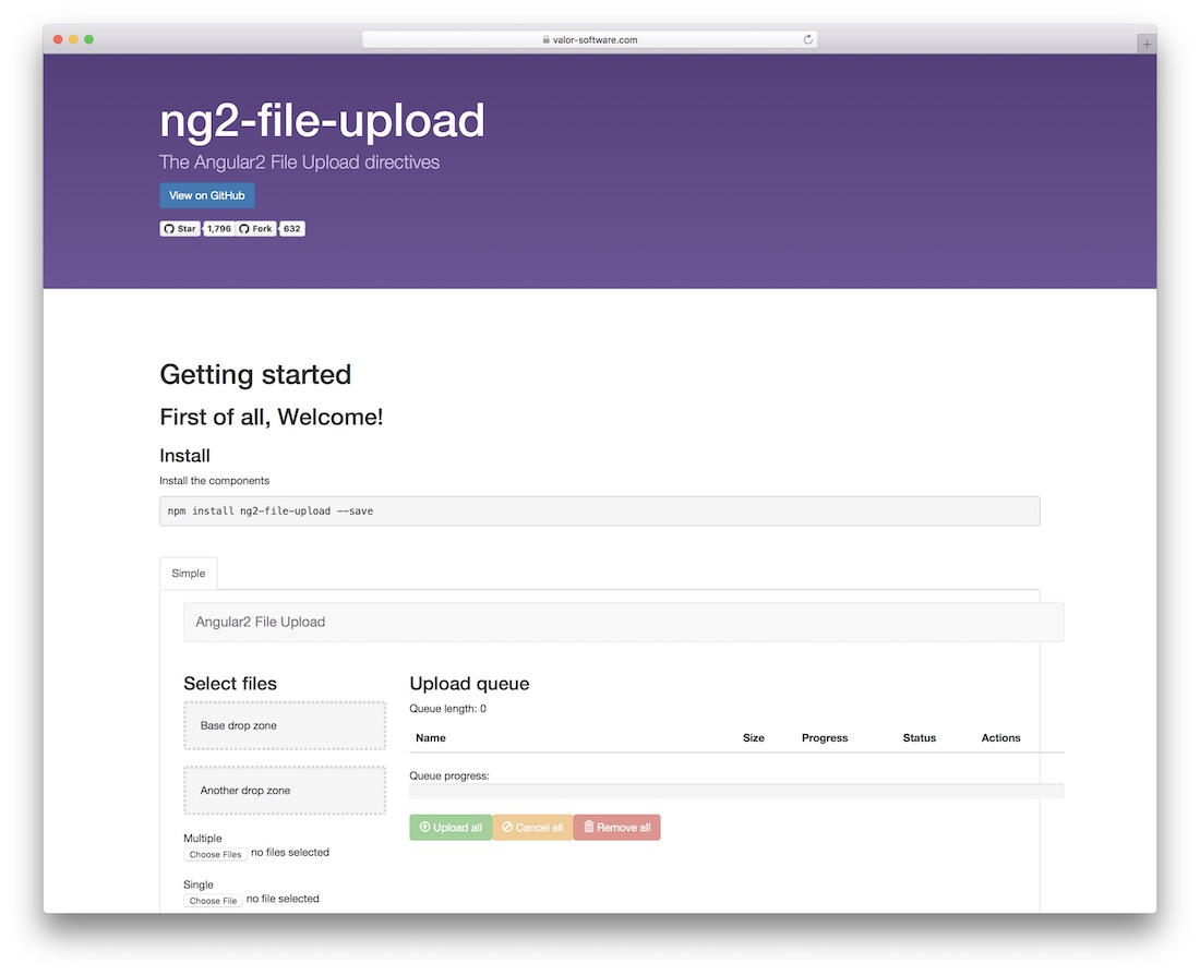 angular2 directives for files upload