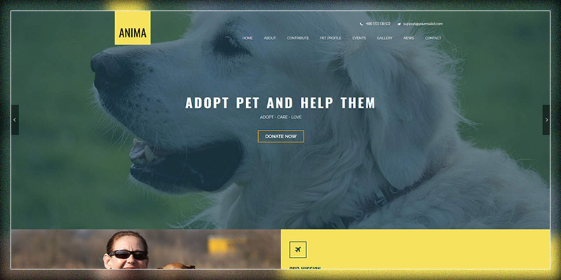 Anima - Pet Rescue and Shelter WordPress Theme for Non-Profit/Charity/Fundraising Organization