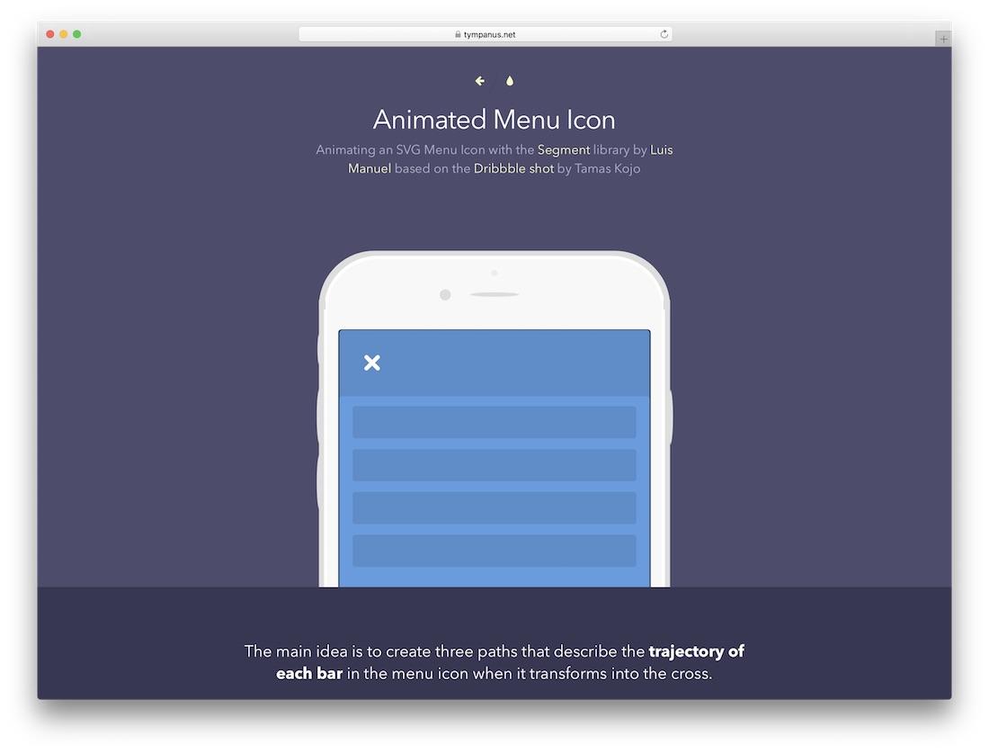 animated menu icon