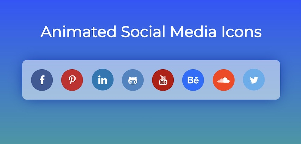 animated social icons template