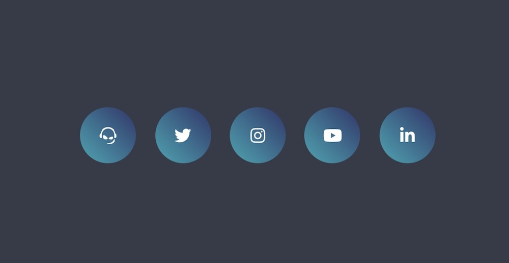 animated social media buttons template