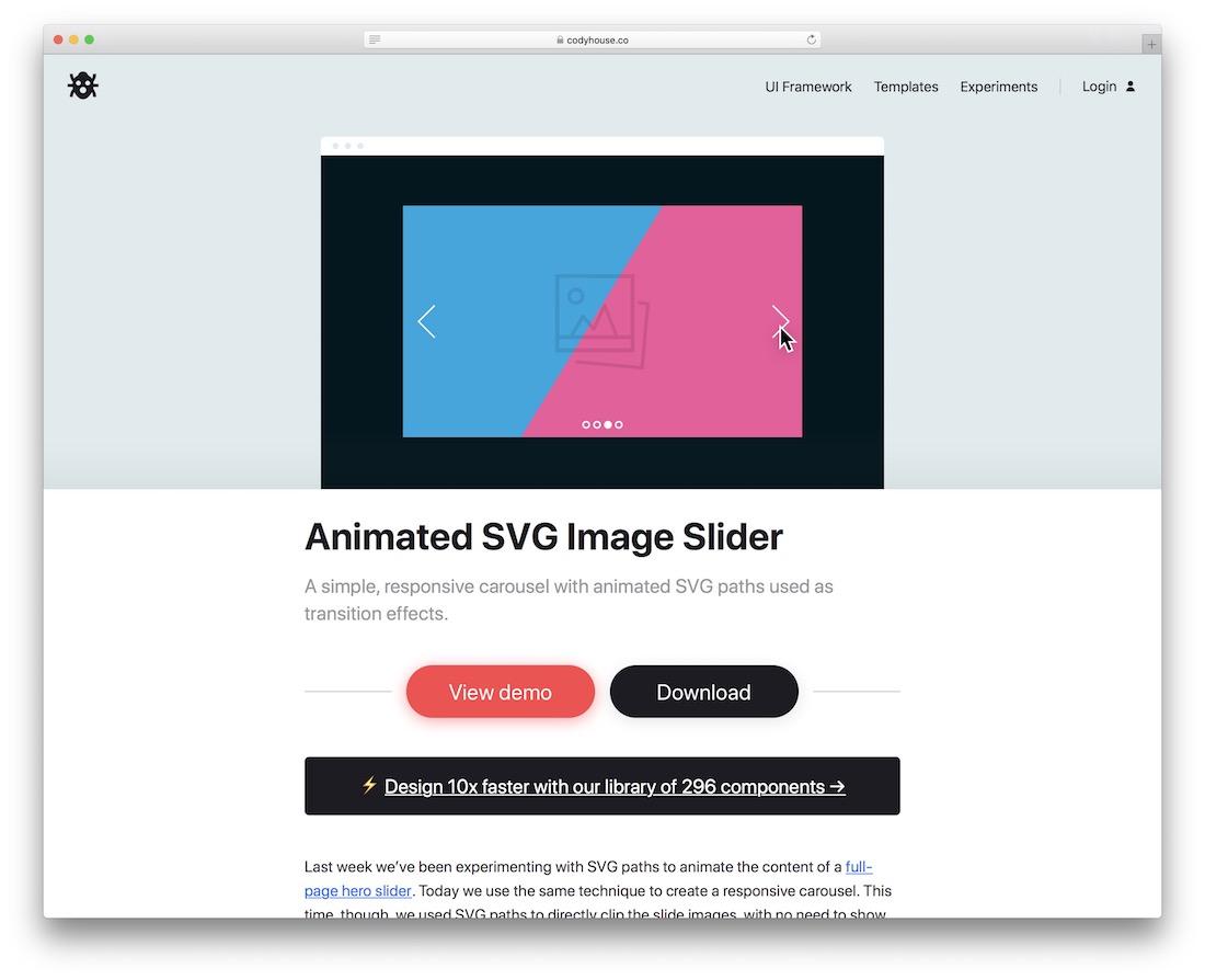 animated svg image slider