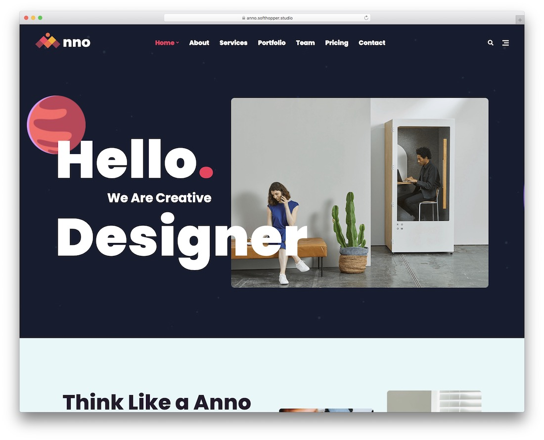 anno parallax wordpress theme