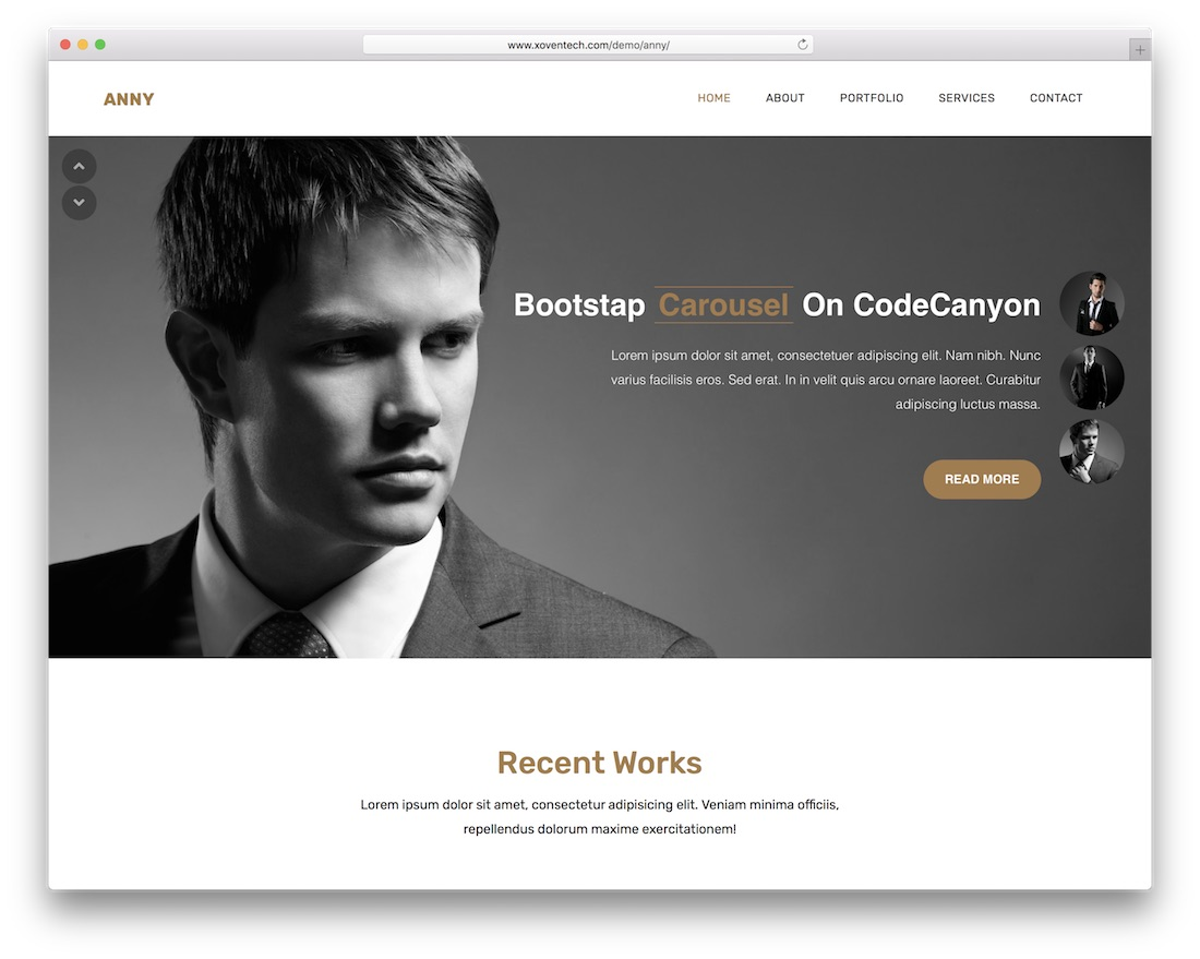 anny cheap website template