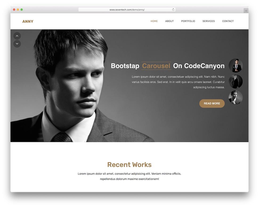 anny cheap website template