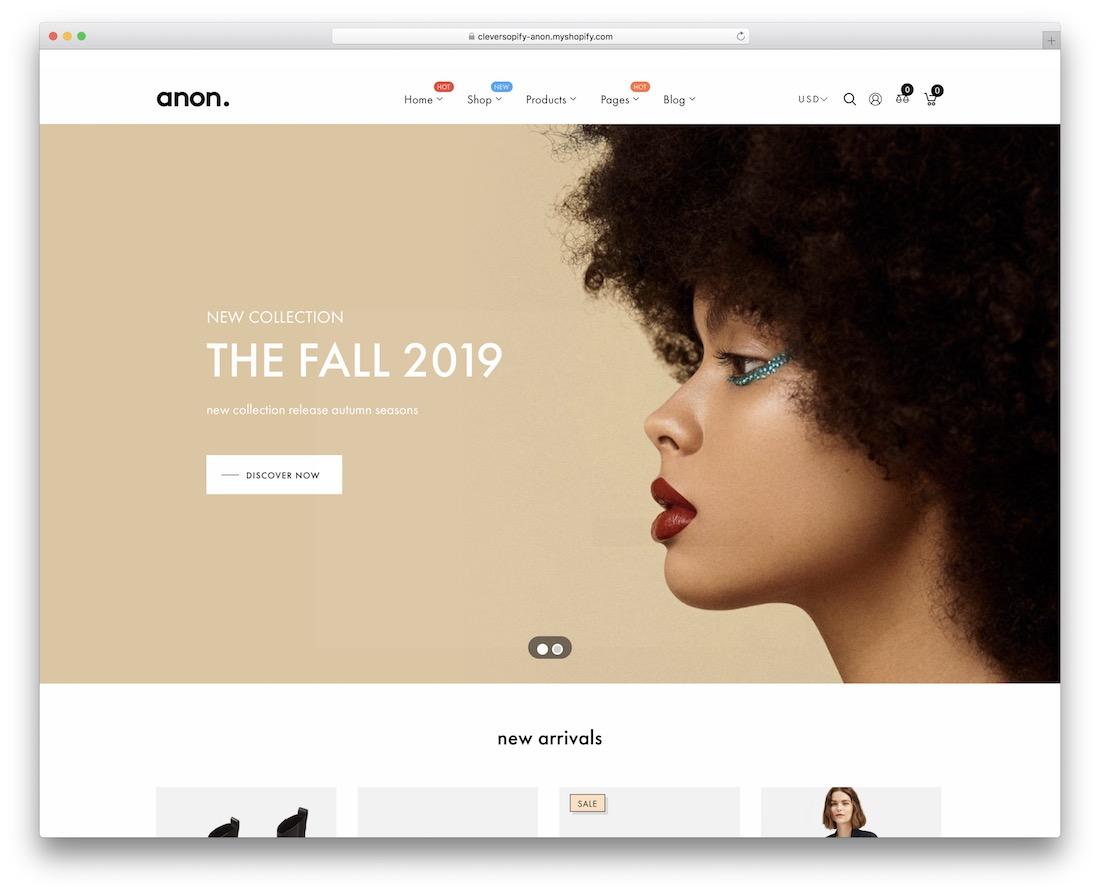 anon fashionistas shopify theme