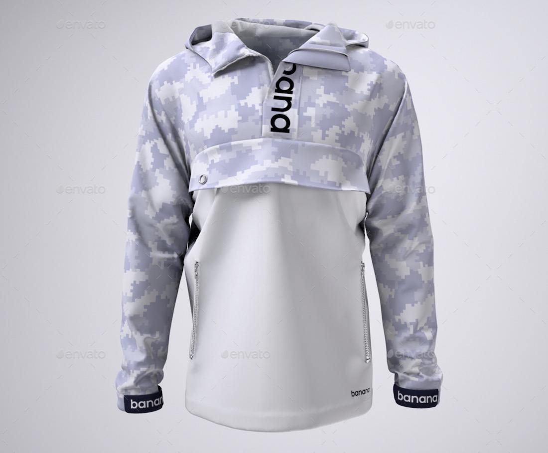 anorak jacket mockup