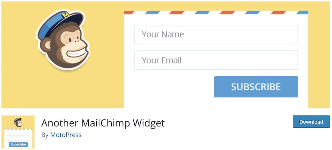 another mailchimp widget free wordpress plugin
