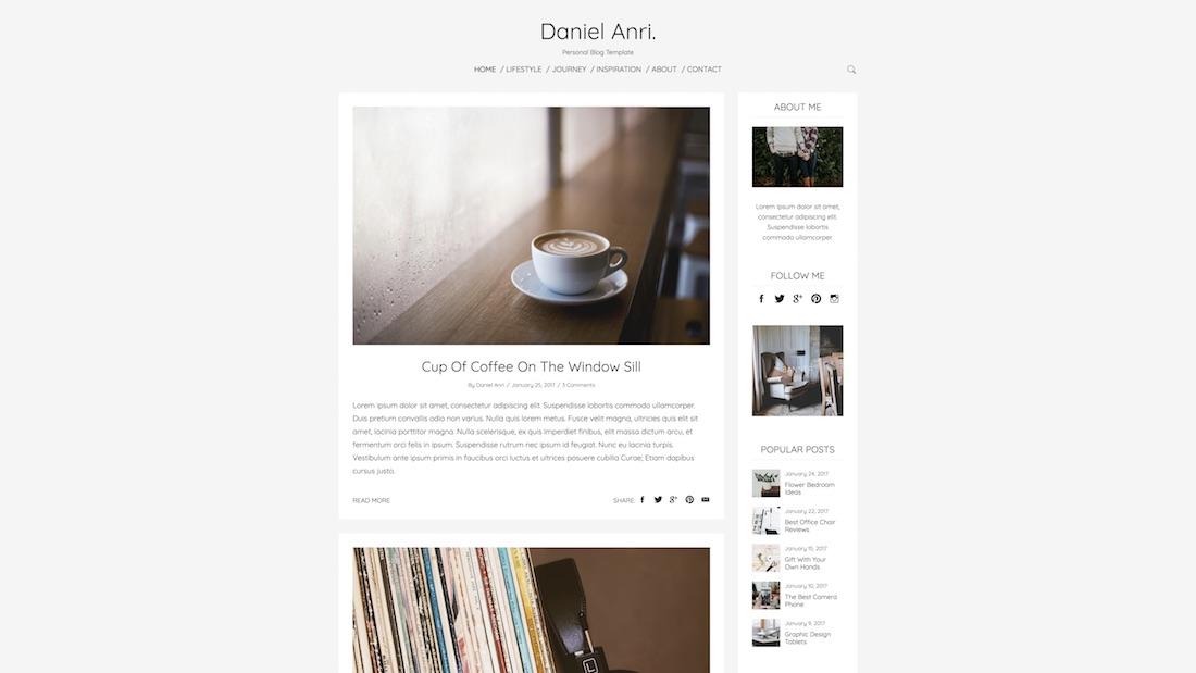 anri writer website template