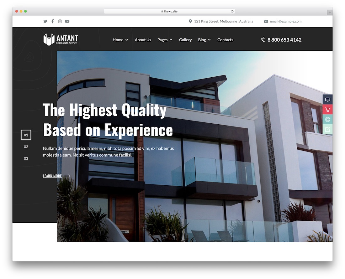 antant single property wordpress theme