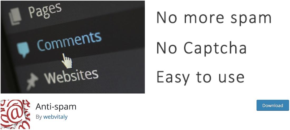 anti spam wordpress plugin