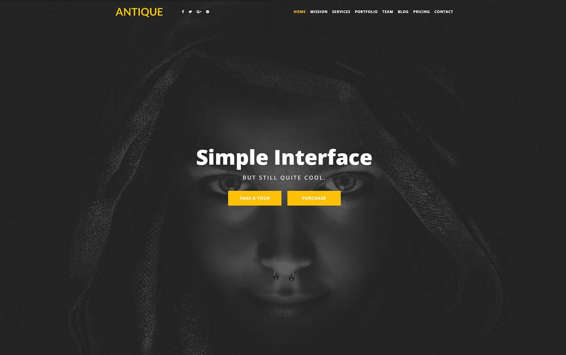 antique bootstrap business website template