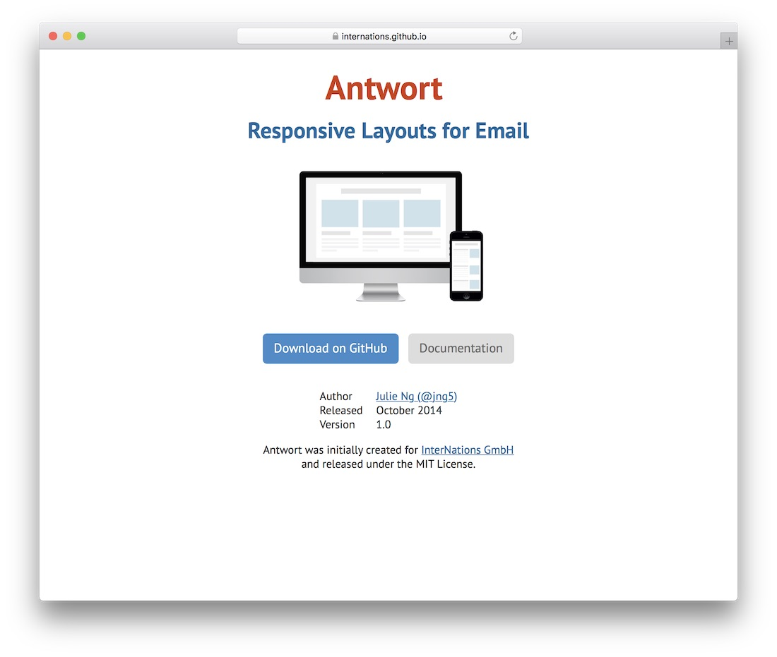 antwort responsive html email template