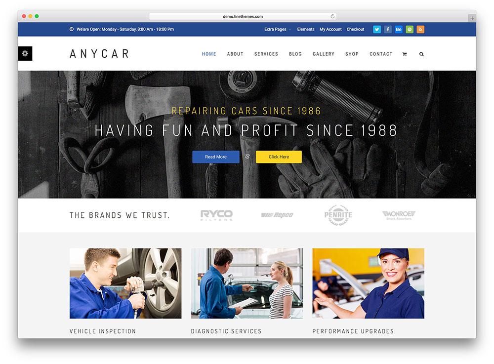 anycar-fullscreen-car-repair-theme