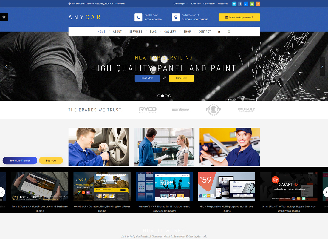 Automotive, Car Dealer, Dealership WordPress Theme - AnyCar