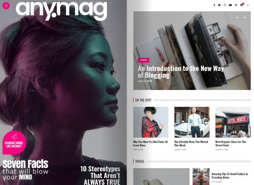 Anymag   Magazine Style WordPress Blog