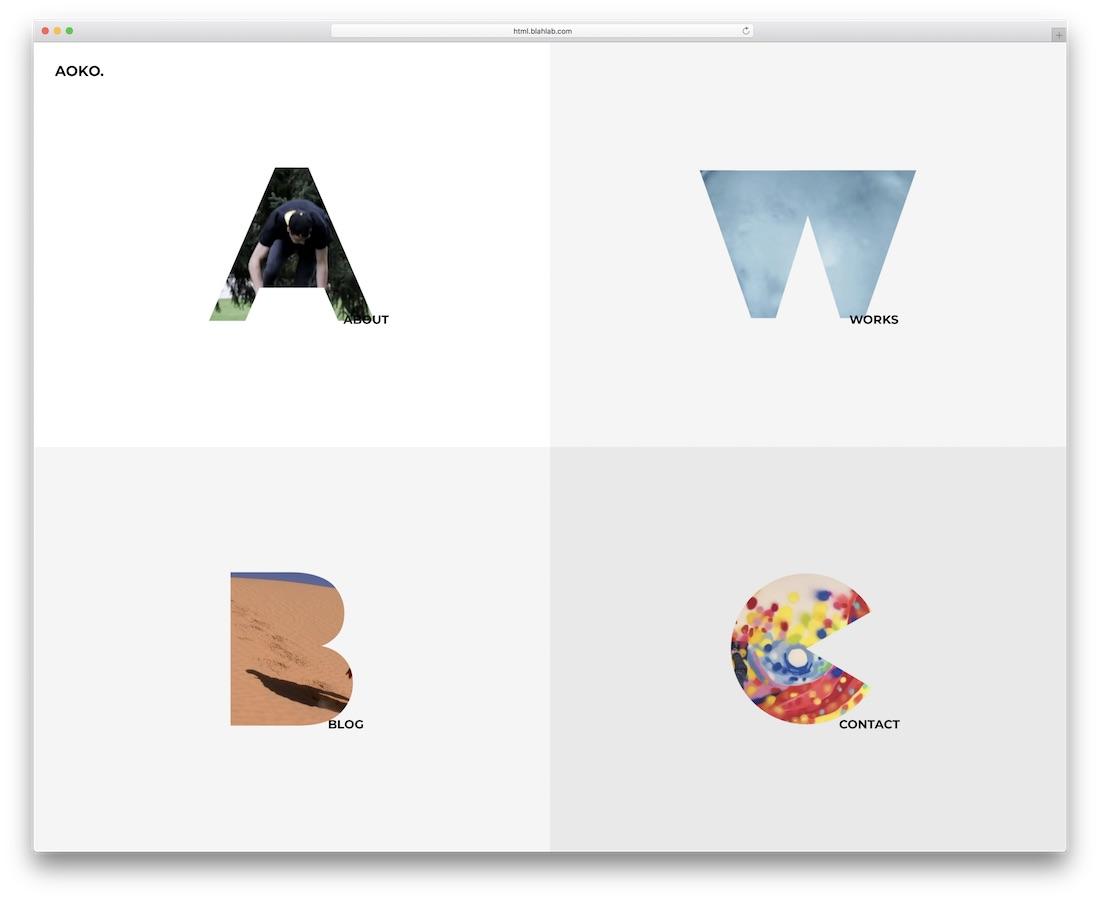 aoko creative website template