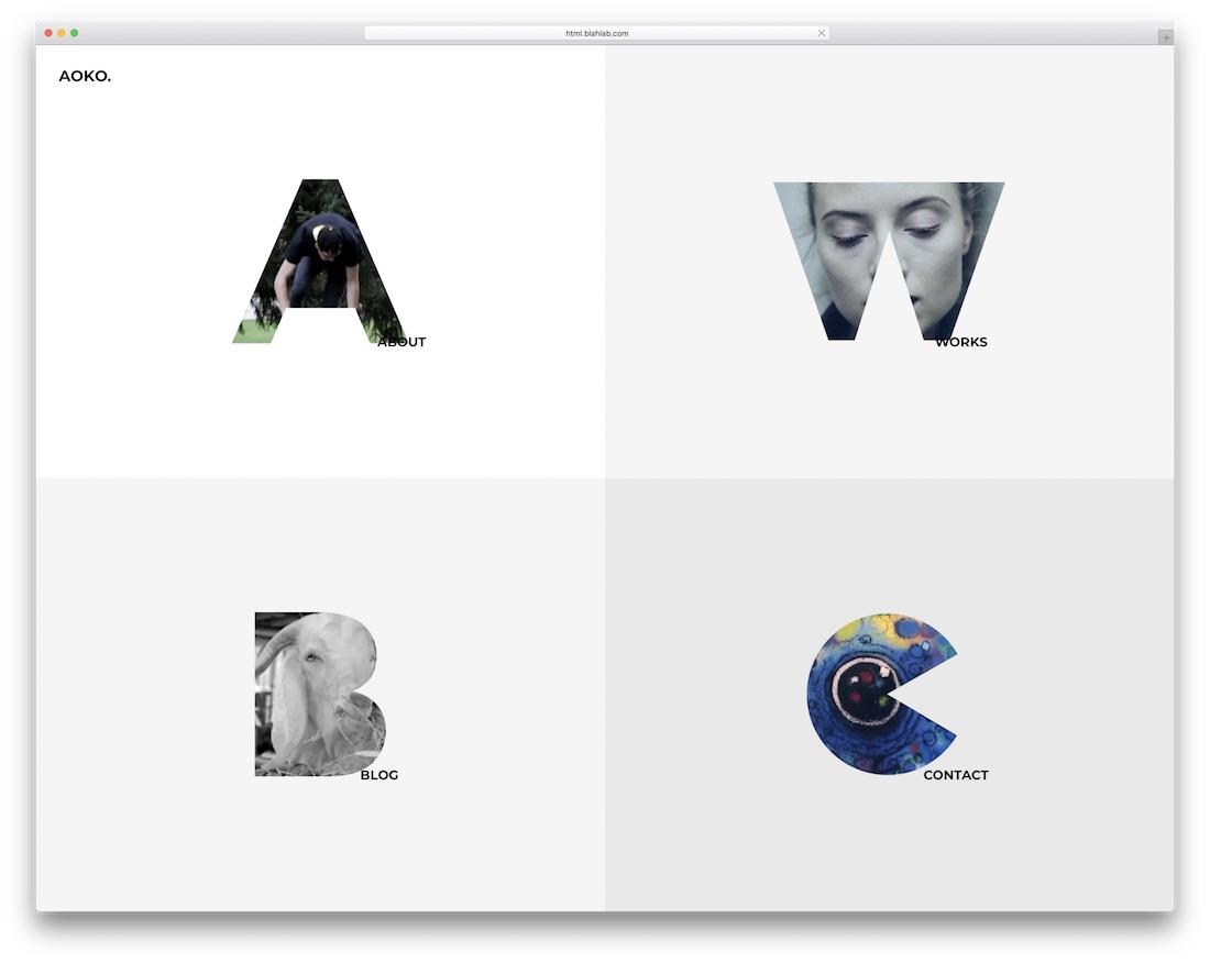 aoko gallery website template