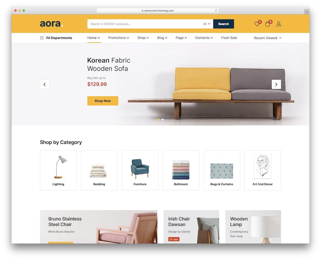 aora wordpress webshop theme