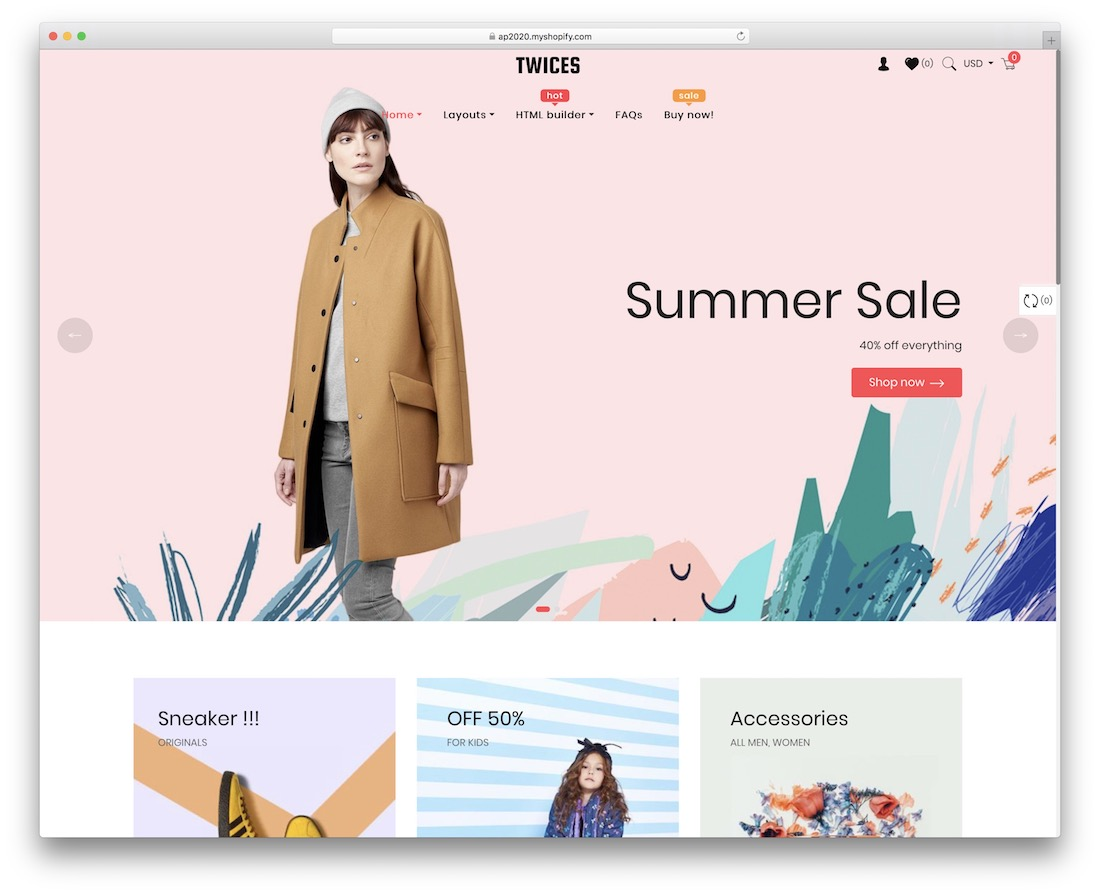 ap twices shopify parallax theme