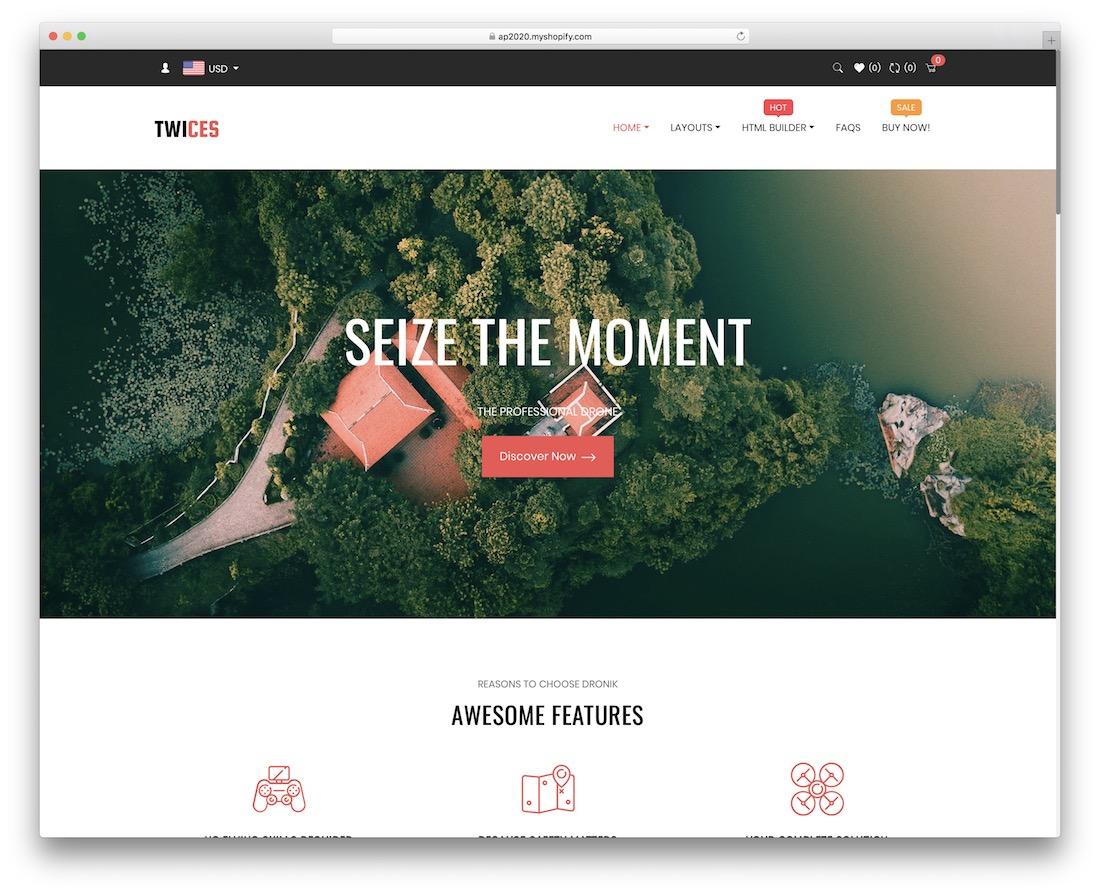 ap twices single product shopify theme