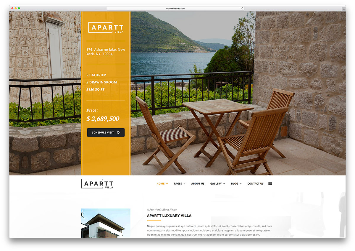 top html real estate website templates colorlib apart villa rental website html template