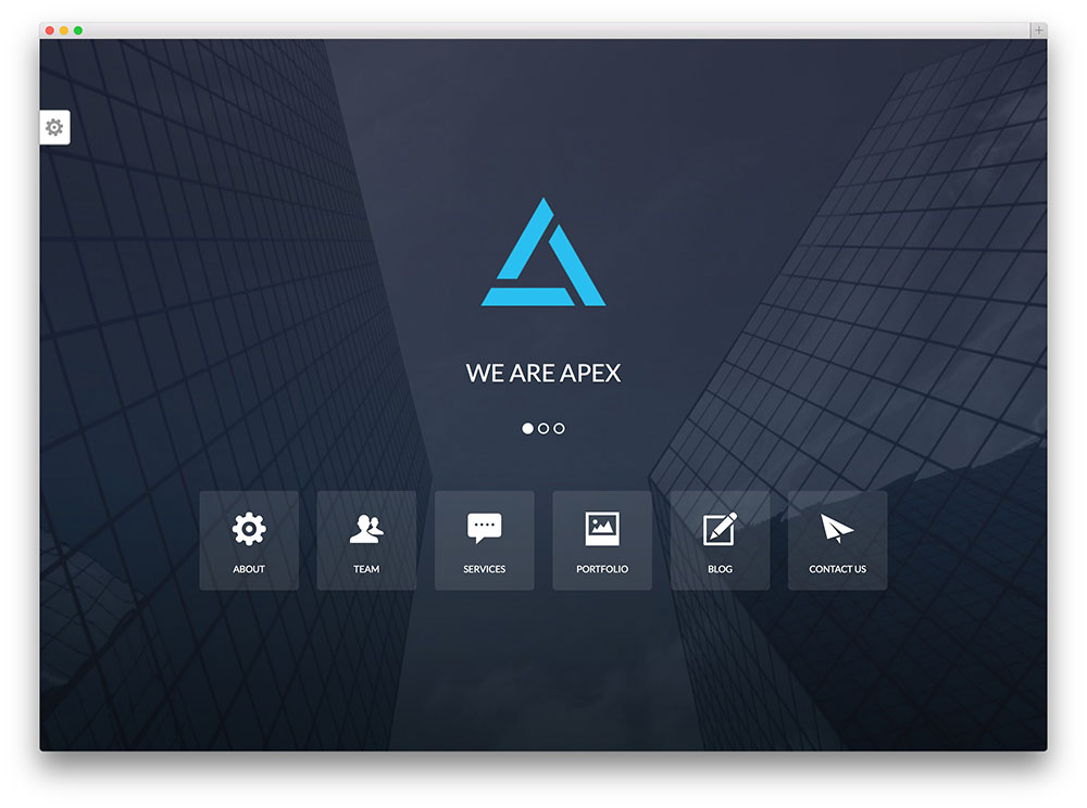 apex - creative one page theme for agencies