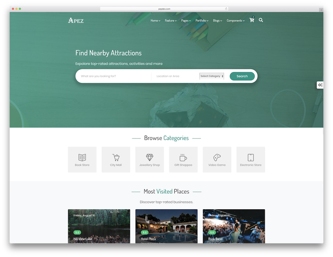 apez multipurpose website template