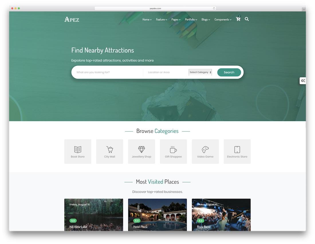 apez multipurpose website template