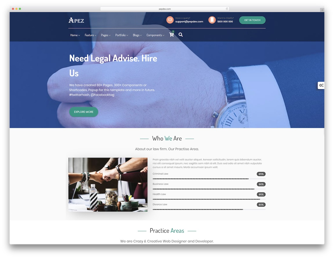 apez website template