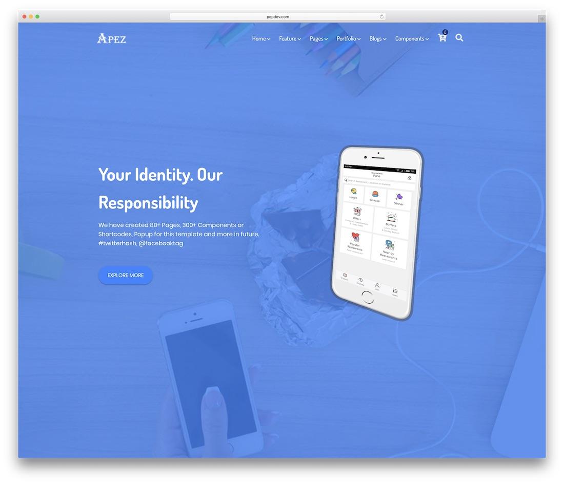 apez website template