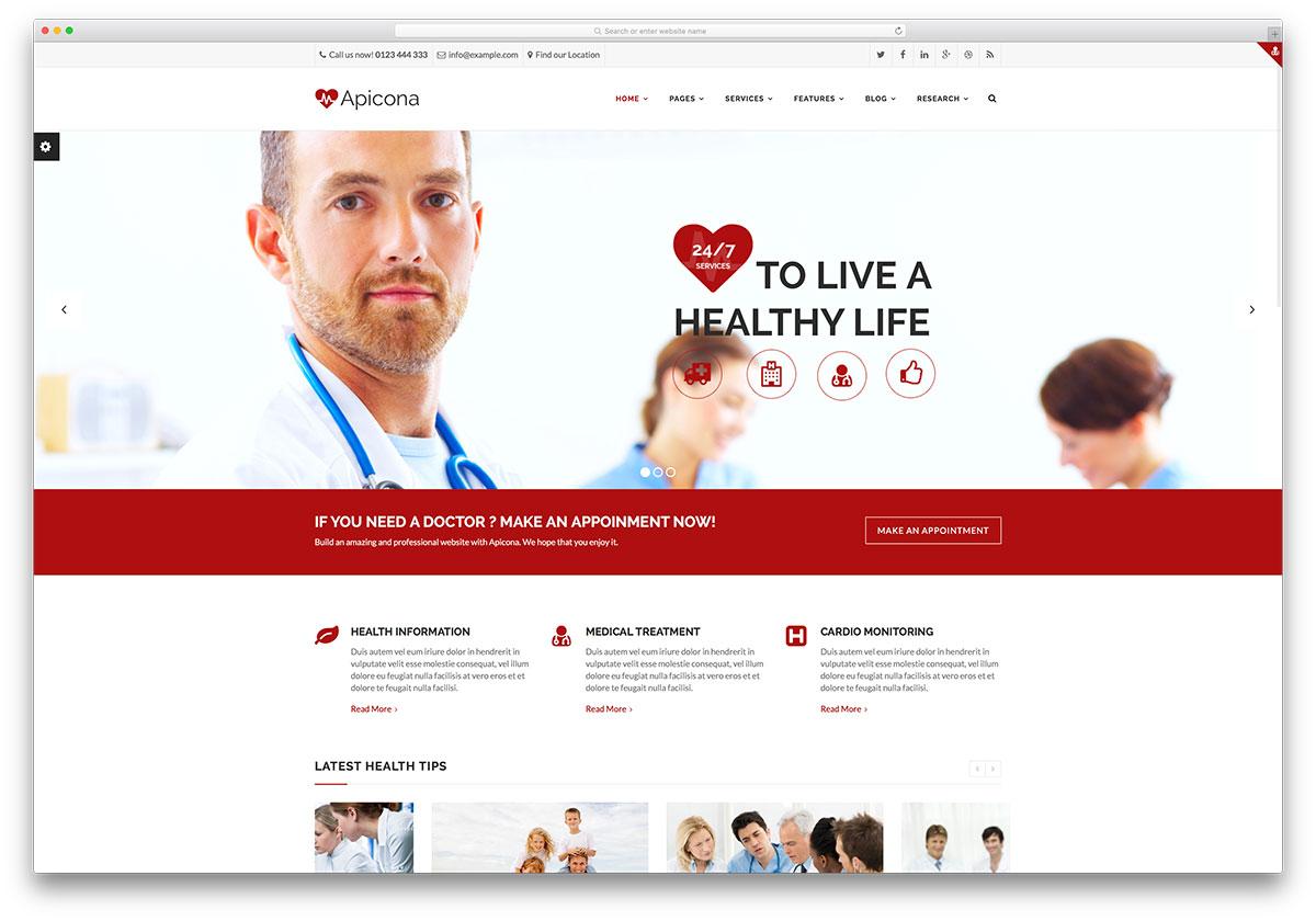 apicona-fast-loading-doctor-theme