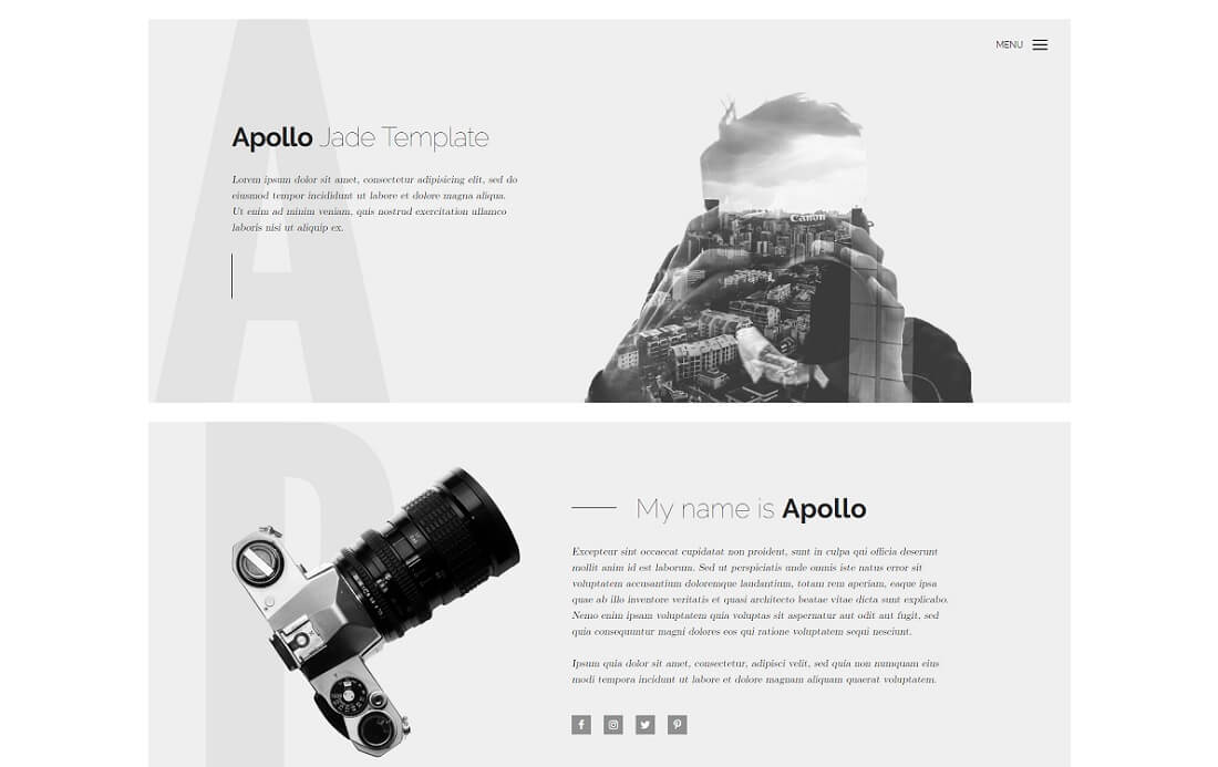 apollo free simple html template