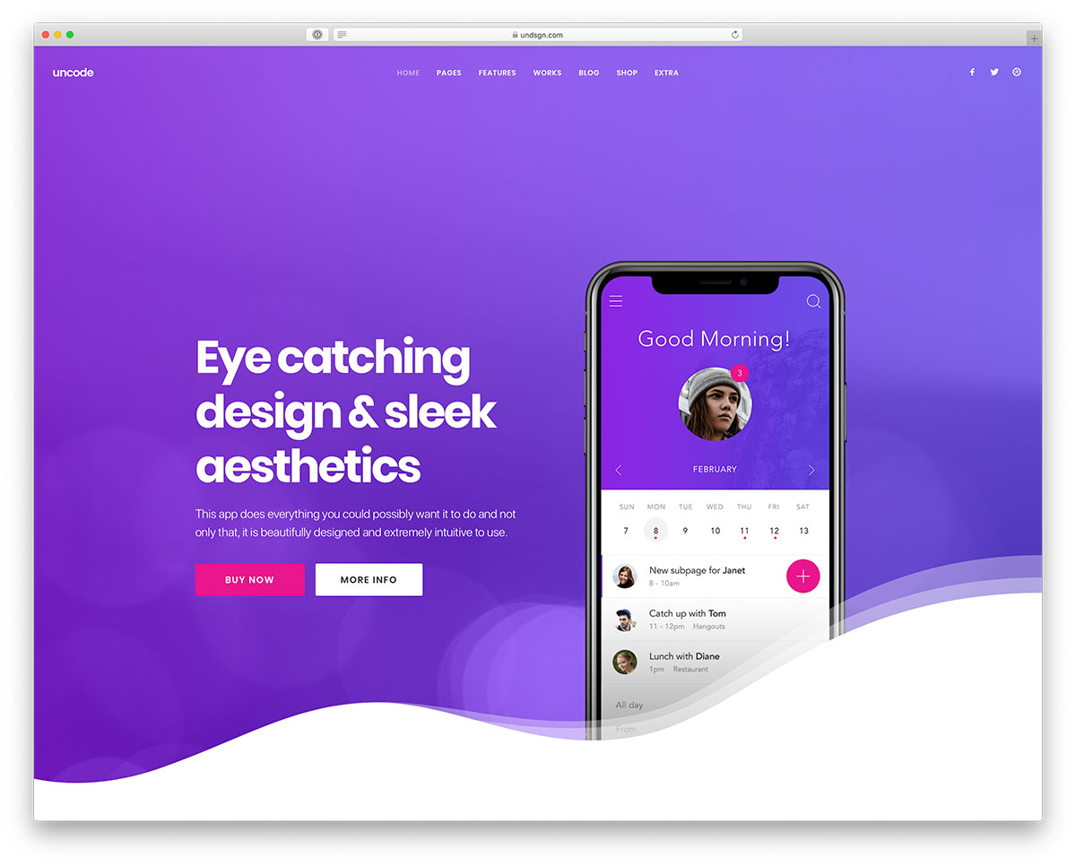 41 Best Mobile App, Software Showcase And Landing Page WordPress Themes – 2020